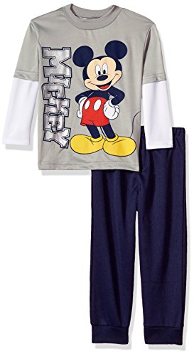 Disney Baby Toddler Boys Mickey Mouse 2-Piece Long-Sleeve T-Shirt and Pant Set
