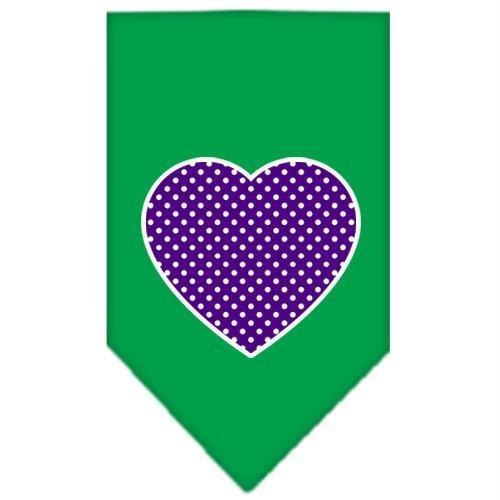 UPC 099994374471, Mirage Pet Products Purple Swiss Dot Heart Screen Print Bandana for Pets, Small, Emerald Green