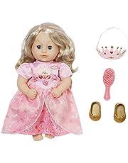 Baby Annabell Little Sweet Princess 36cm - Voor Peuters vanaf 1 Jaar - Stimuleert Empathie & Sociale Vaardigheden - Jurk, Schoenen, Tiara & Borstel