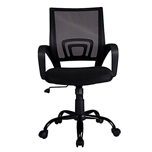 Office Chair Desk Ergonomic Swivel Executive Adjustable Task MidBack Computer Chair with Arm in Home-Office (3) by BestOffice (Image #1)