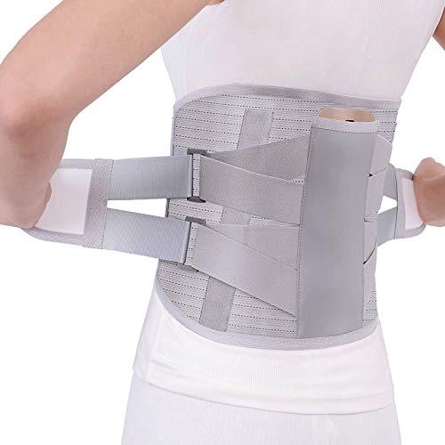 HKKSDM Orthopedic Tourmaline Self-Heating Magnetic Steel Bone Waist Widen Belt Men Women Lumbar Support Back Brace Belt with 3Pcs,White,S by HKKSDM