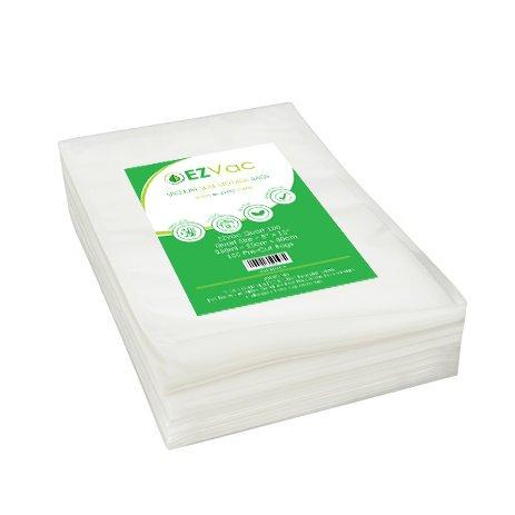 (EZVac Quart 100 Vacuum Food Storage Bags-Pre-Cut Clear Storage Bags for Vacuum Sealer Machines-Plastic Freezer Containers for Sous Vide Container Clear Bags-Vacuum Seal Bags-Sous Vide Bags)