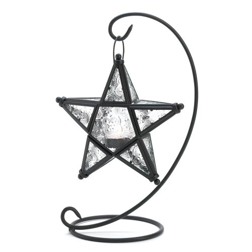 Gifts & Decor D1081 Starlight Standing Lamp, - Star Stand Candle