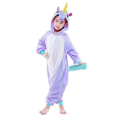 SWEETXIN Halloween Unisex Children Cosplay One piece Pyjamas Animals Costumes (10-height 55-58