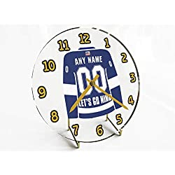 FanPlastic N H L Hockey Jersey Themed Clock - All Western Conference N B A Team Colours - Our Very OWN 'Let's GO' Range of Clocks !! (Let's Go Lightning Edition)