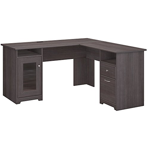 Bush Furniture WC31730K Cabot L Shaped Computer Desk, Heather Gray