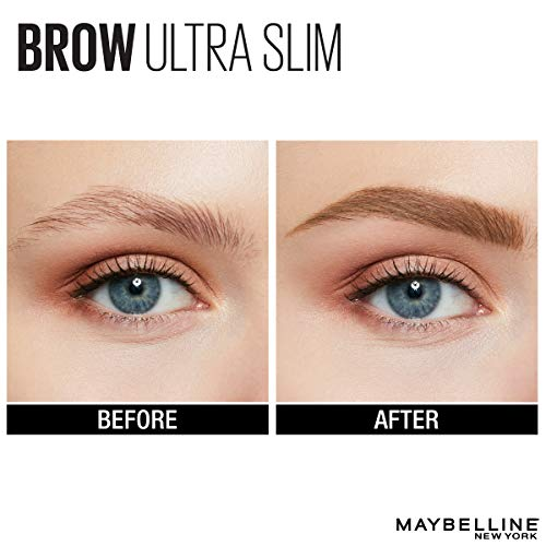 Maybelline New York Brow Ultra Slim Defining Eyebrow Makeup Mechanical Pencil with .55 MM Tip & Blending Spoolie For…