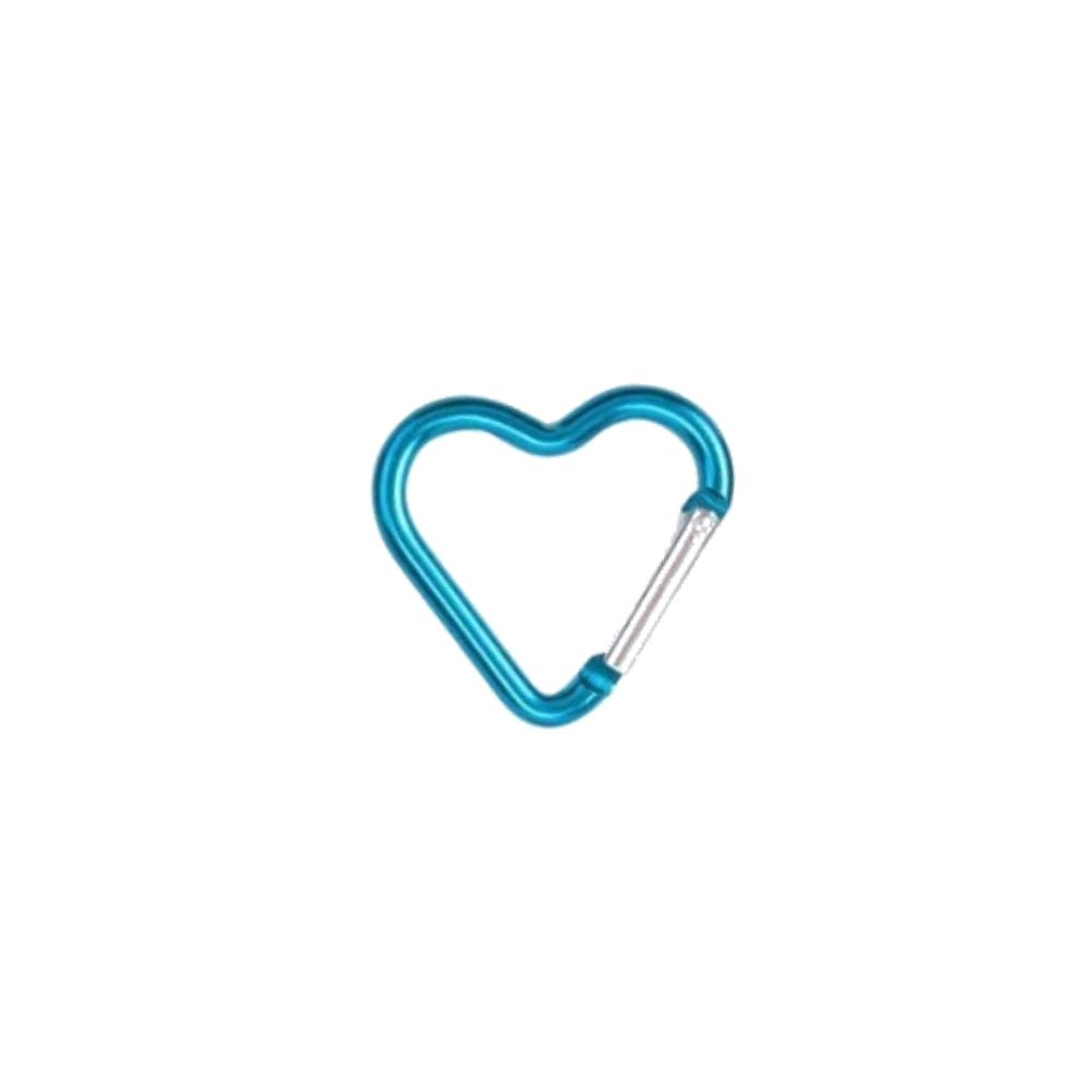 Bonison Heart Shaped Gift Aluminum Alloy Carabiner Hook Snap Clip Key Holder Keychain Tool Party Favors Camping Hiking Backpack Accessory Pastel Color Assortment