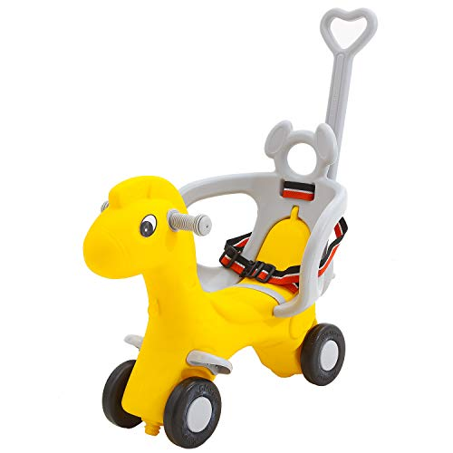 Baybee Baby Horse Rider-Kids Ride On car with Push Handle Toy Car Rider Babies Toy Toddler Baby Rocker seat Toys 1-5 Years Old Child – Indoors and Outdoors Kids Suitable for Boys & Girls