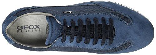 Geox U Clemet A, Scarpe da Ginnastica Basse Uomo Blu (Navyc4002)