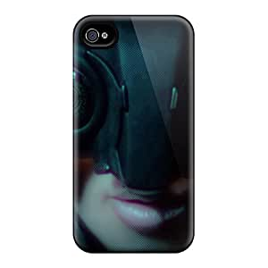 Durable Case For The Iphone 4/4s- Eco-friendly Retail Packaging(cyberpunk 2077 Girl)