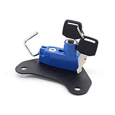 Motorcycle Helmet Lock with Keys for Indian Scout/Sixty 2015-2020-Blue: Automotive