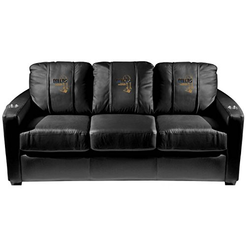 XZipit NBA Silver Sofa with Dallas Mavericks Champs 2011 Logo Panel, Black