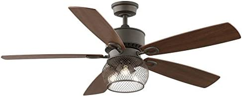 Kichler Clermont 52-in Satin natural bronze Indoor Downrod Mount Ceiling Fan