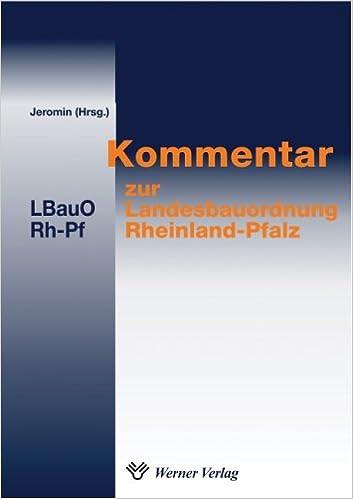 Kommentar Zur Landesbauordnung Rheinland Pfalz 2005 Amazon De Curt