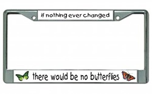 If Nothing Ever Changed Butterfly License Plate Frame