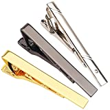 TANTAI_CARE Tie Clips, Simple Fashion - Style 3 Pcs Tie Pins Set for Men,Tie Bar Clip Set for Regular Ties Necktie Wedding & Business Clips