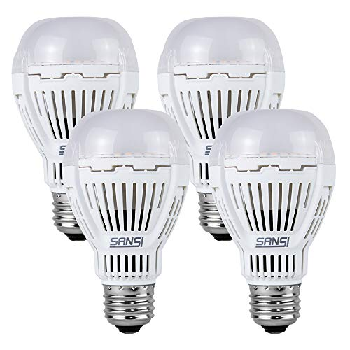 [Upgrade] 13W (100 Watt Equivalent) LED Light Bulbs, 5000K Daylight Super Bright 1600 Lumens LED Bulbs, Non-Dimmable, A19 LED Light Bulbs, E26 Medium Screw Base, 4-Pack, SANSI