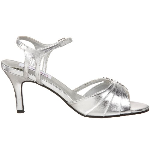 Dyeables Strap Ankle Silver Ariana Sandal Metallic Women's rwzrSqtp