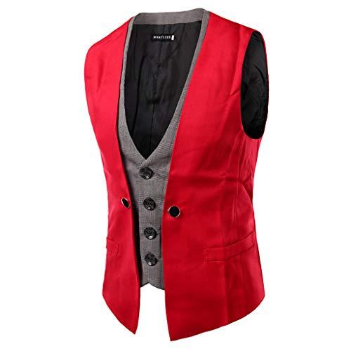 2001 Wedding Gown - 1pc Mens Tuxedo Vest Suit Vest Vest Pocket Set, Autumn Winter Casual Jacket Top Coat M/L/XL/XXL