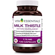 Vita Essentials Milk Thistle 175 Mg Capsules, 120 Count