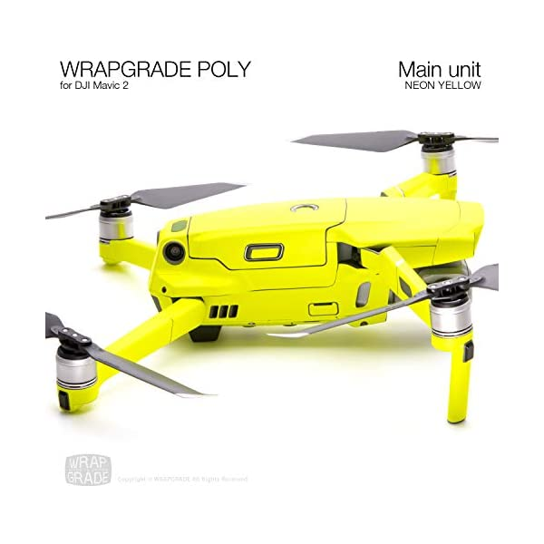 WRAPGRADE Skin Compatibile con DJI Mavic 2 unità Principale (Neon Yellow) 2 spesavip