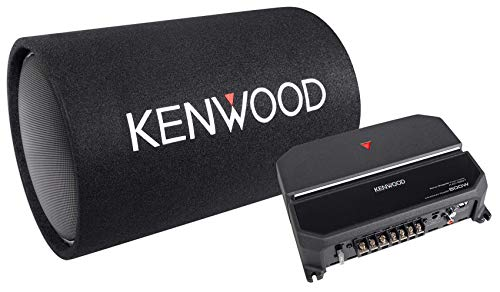 Kenwood 12-Inch Cylindrical Subwoofer and 2-Channel Amplifier (Kenwood Sub Combo)