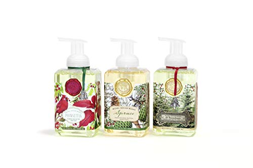 (SPECIAL HOLIDAY EDITION: Michel Design Works 3-PACK Holiday Foaming Soaps - Spruce, O Tannenbaum, Poinsettia)