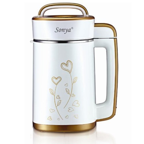 Soy Milk Maker Machine Automatic Stainless Steel Motor Head and Heatproof Double Layers' Container 6 in 1 SYA19A
