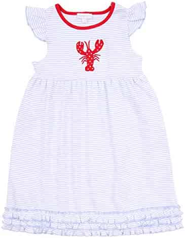 4e40e3ed5f4d Magnolia Baby Unisex Baby Snappy The Lobster Applique Toddler Dress Red