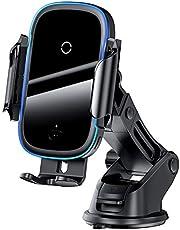 Baseus carregador de carro sem fio para iphone 11 luz elétrica 2 em 1 carregador sem fio 15w suporte de telefone de carro para huawei samsung xiaomi