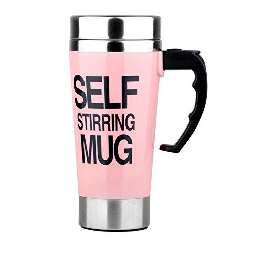 Self Stirring Mug (Pink) - 5