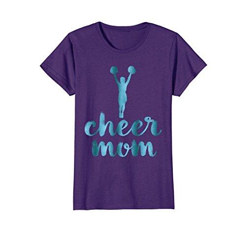 Womens Cheerleading Cheer Mom Shirt Teal XL Purple