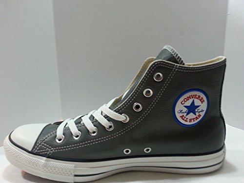Converse Unisex Chuck Taylor Leather Hi Charcoal, 10 Men/12 Women