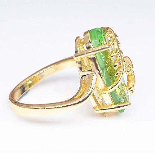 Dragonfly Ring Natural Transparent Peridot Gemstone Rings Luxury Wedding Ring,Outsta 2019 Fashion Jewelry Hot Sale!Under 5 Dollars Gifts for Her
