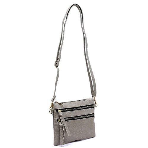 Bag Americana Crossbody Grey Pocket Multi Functional Ipwwqzx0B