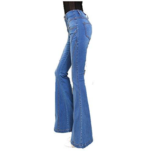 Corno Jeans Sottili Retro A Delle I Da Cotone Pantaloni Miei Moshow Elastico Donne In zTwRXx