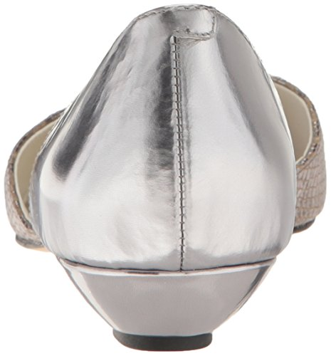 Cinturino In Pelle Argento Antracite Antracite / Peltro