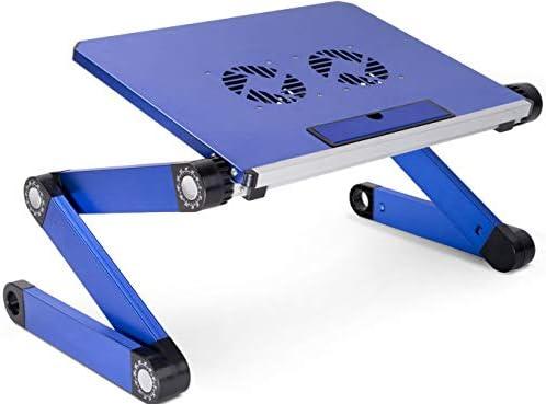 KEREITH Soporte portátil y Ajustable de Aluminio para portátiles, Notebooks y Macbooks con Ventiladores para CPU, de Peso Ultraligero, ergonómico, Bandeja para la Cama, posición parado o Sentado: Amazon.es: Hogar
