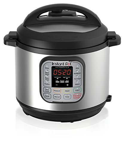 Instant Pot Duo V2 8 Litre,7-in-1 Electric Pressure Cooker,220-240v, 1200 W, Brushed Stainless Steel/Black