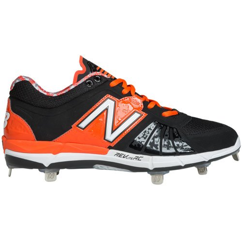 New Balance Herren L3000V2 Metall Low Baseball Stollen Schwarz / Orange