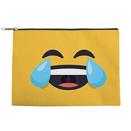 CafePress Cry Laughing Emoji Face Makeup Pouch ()