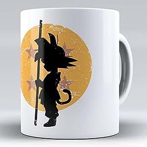 April Taza cerámica Desayuno Regalo Original Goku Bola de dragón ilustración