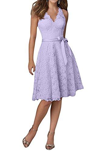 Neu La Ausschnitt Damen Braut Marie Abendkleider Spitze Cocktailkleider Festlichkleider Promkleider V Lilac 4v4rqX