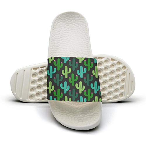 ftuyuy Summer 3d Woman Slipper Slip Home Shoes Birthday erett Indoor Sandal Shower Anti Cactus Cactus Black rwCSr5q