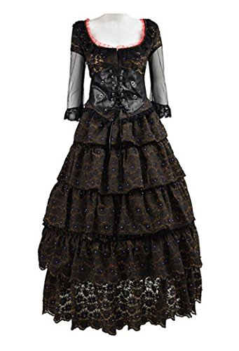 (Xiao Maomi Womens Cosplay Costume Mrs. Lovett Lolita Long Dress Halloween Party Suits (XL, Picture)