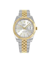 Rolex Datejust 41 Stainless Steel & 18K Yellow Gold Jubilee Watch Silver Dial 126333