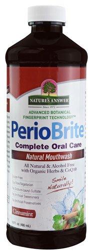 (Nature's Answer PerioWash Mouthwash Alcohol-Free Cinnamint -- 16 fl oz - 2pc)