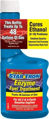 Star Brite Star-Tron Enzyme Fuel Treatment 1 Oz. Cleans Entire Fuel Delivery System