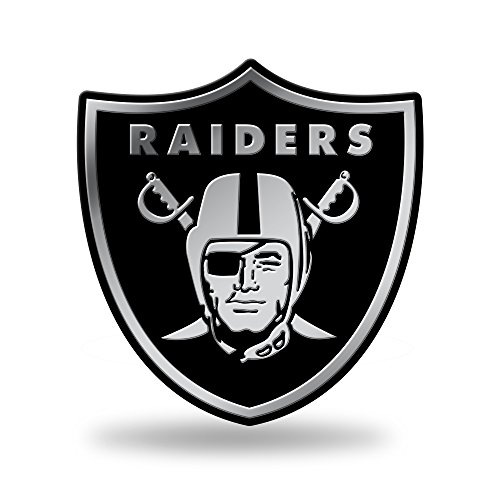 Rico Industries NFL Oakland Raiders Chrome Finished Auto Emblem 3D Sticker